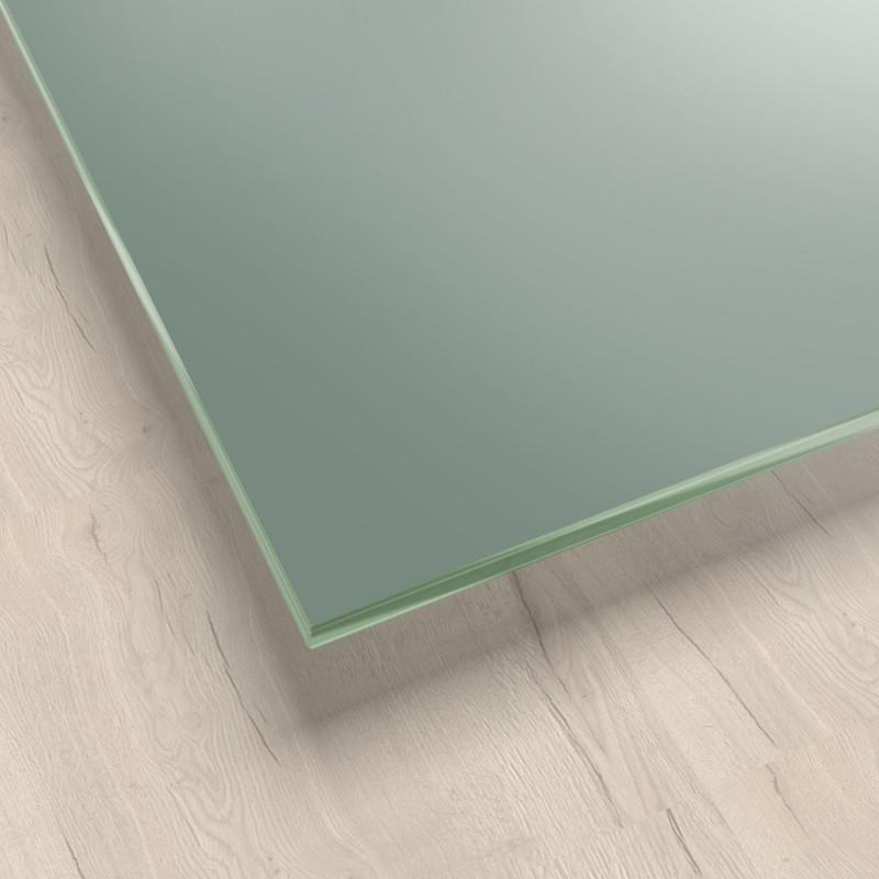 Lackiertes Glas - Grün-Grau / Lindgrün - REF 8715, 6mm