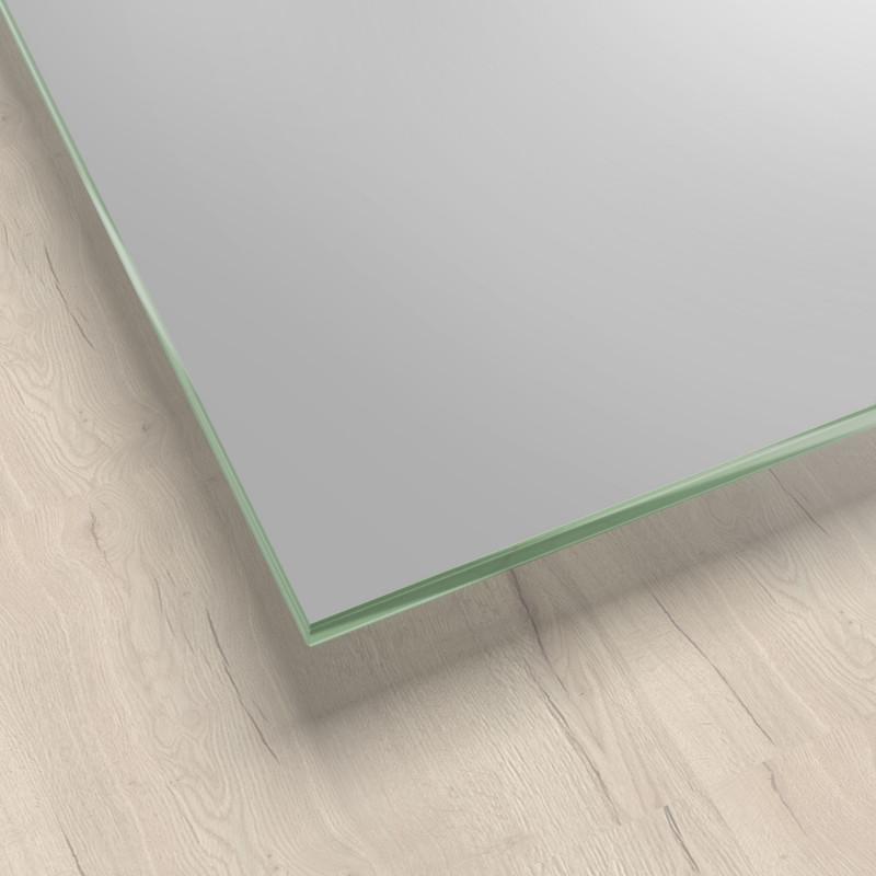 Lackiertes Glas - Metall-Grau / Silber - REF 9006, 6mm