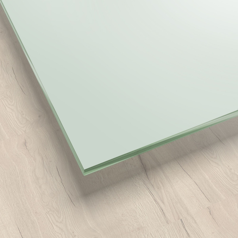 Lackiertes Glas - Pastellgrün / Weiß-Grün REF 8615, 6mm