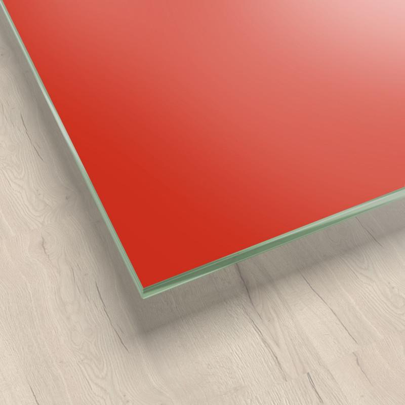 Lackiertes Glas - Rot - REF 1586, 6mm