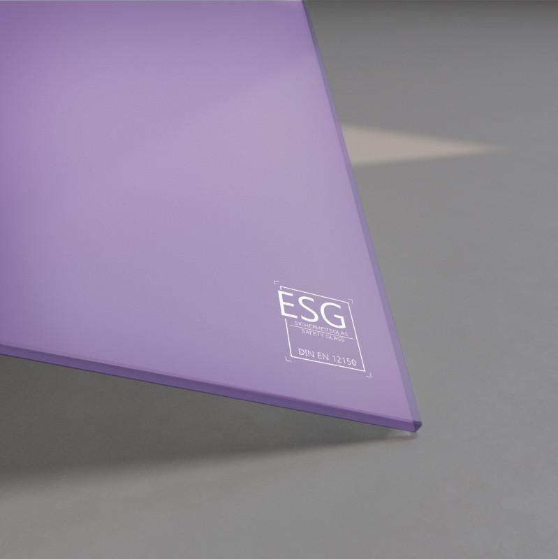 Lila / Violett lackiertes ESG Glas SATINATO 4mm