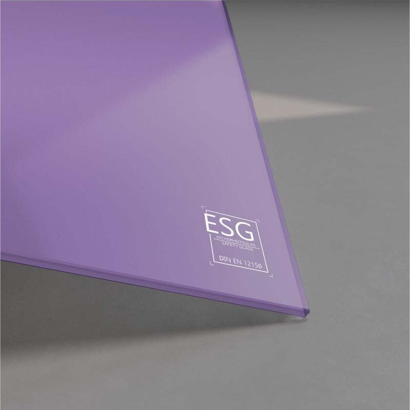 Lila / Violett lackiertes ESG Glas nach Maß 4mm