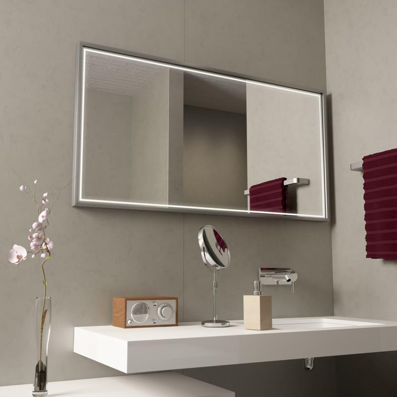 Moderner Spiegel mit Alurahmen Border