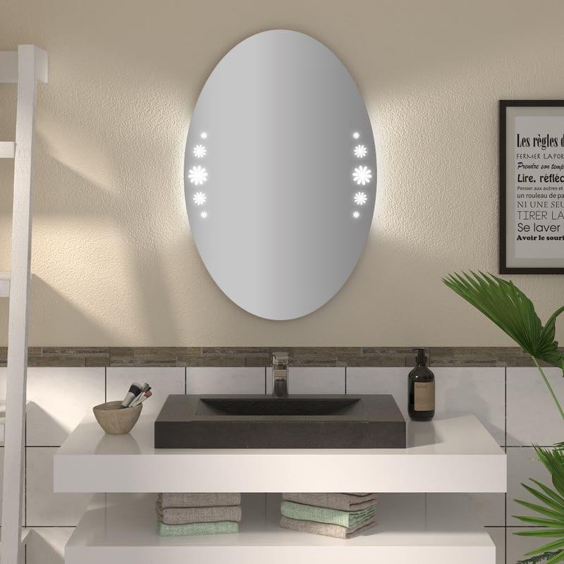 Ovaler Spiegel mit LED nach Maß Caja