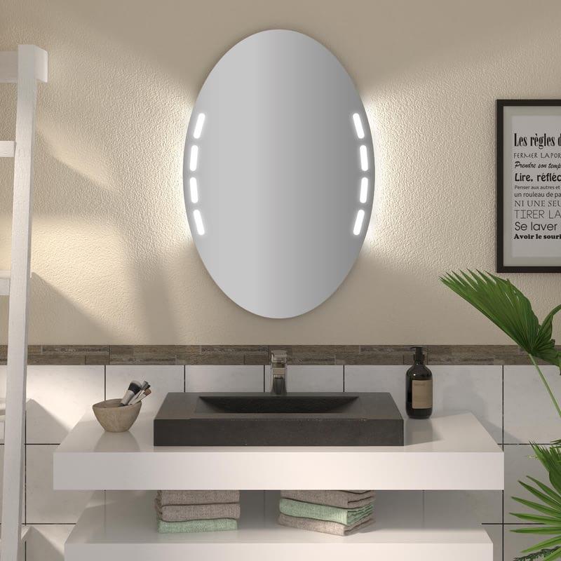Ovaler Spiegel mit LED nach Maß Kyell