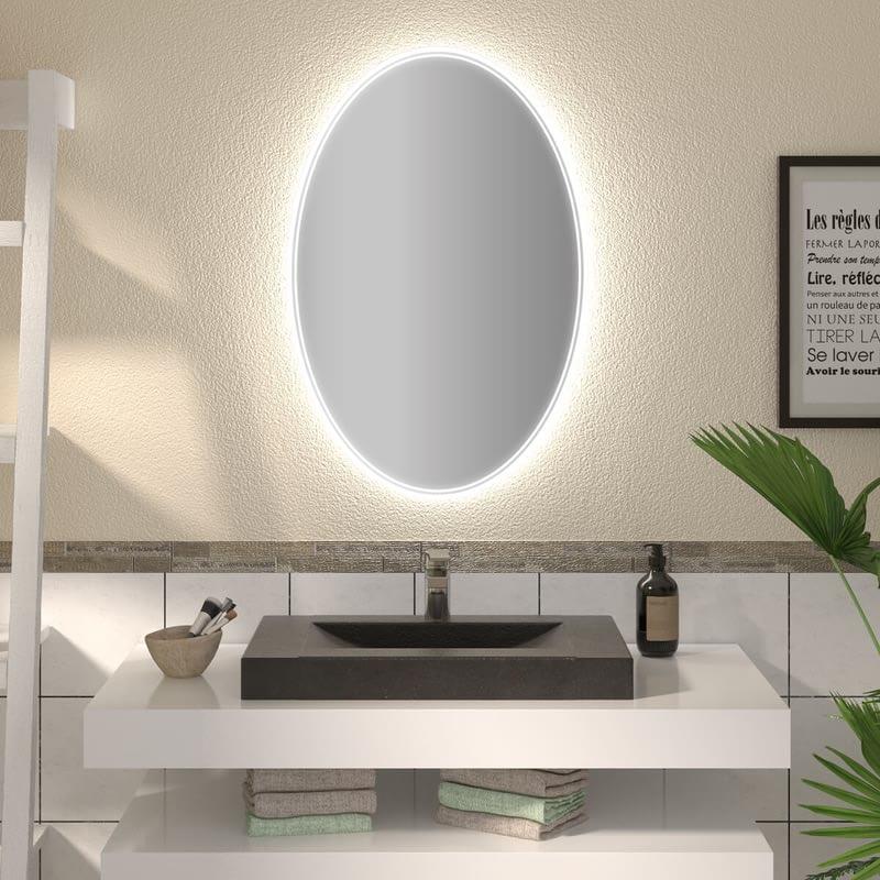 Ovaler Spiegel mit LED nach Maß Meyla