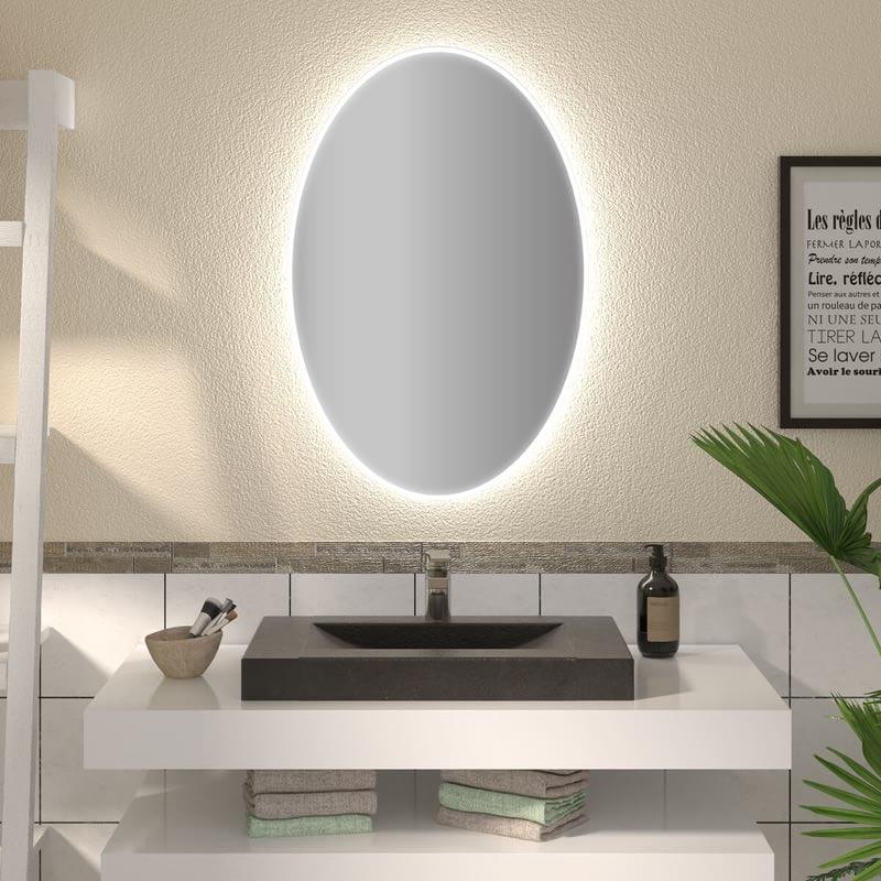 Ovaler Spiegel mit LED nach Maß Tamin