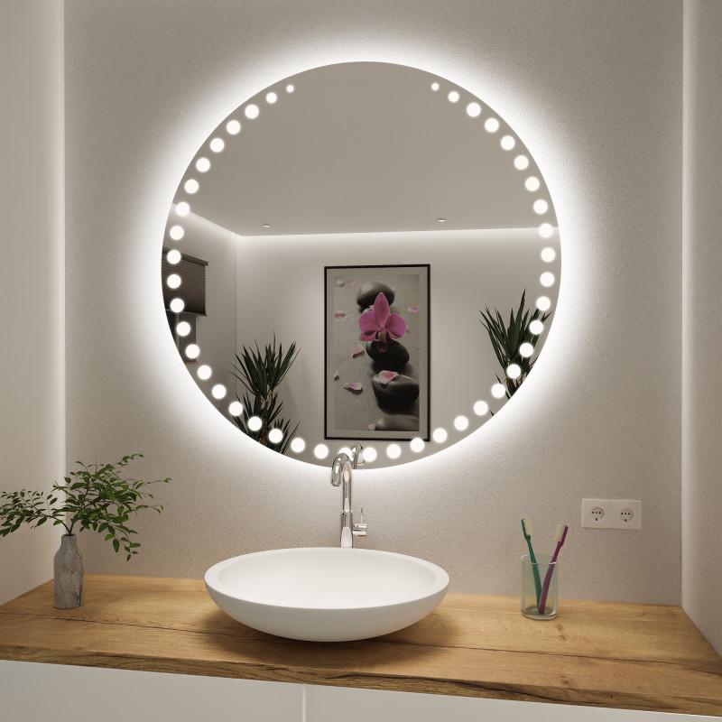 Runder Spiegel mit LED nach Maß Damian