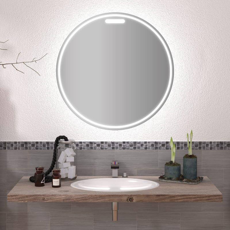 Runder Spiegel mit LED nach Maß Elias