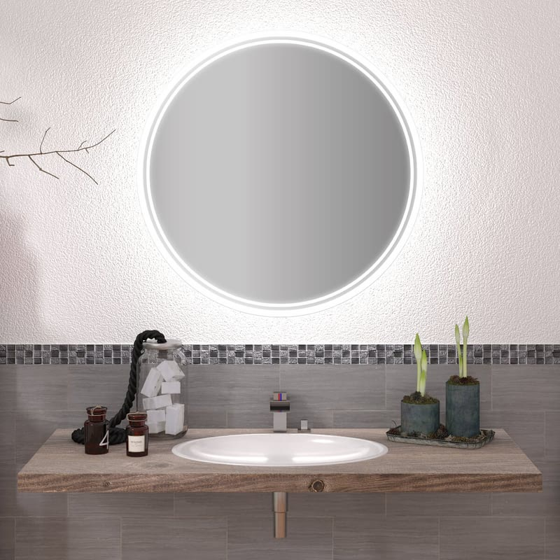 Runder Spiegel mit LED nach Maß Elina