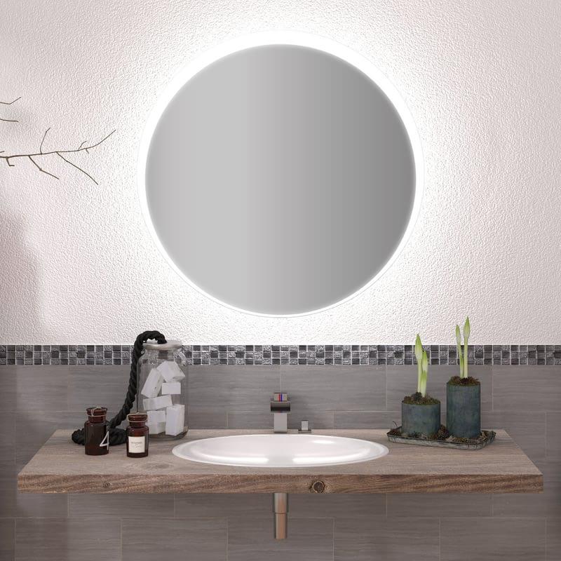 Runder Spiegel mit LED nach Maß Elvin
