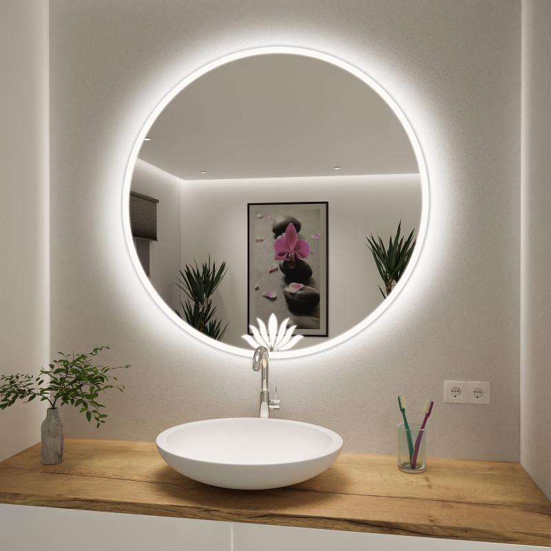 Runder Spiegel mit LED nach Maß Lilly