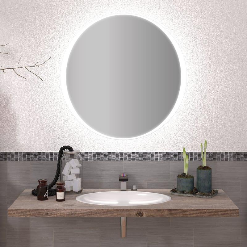 Runder Spiegel mit LED nach Maß Milian