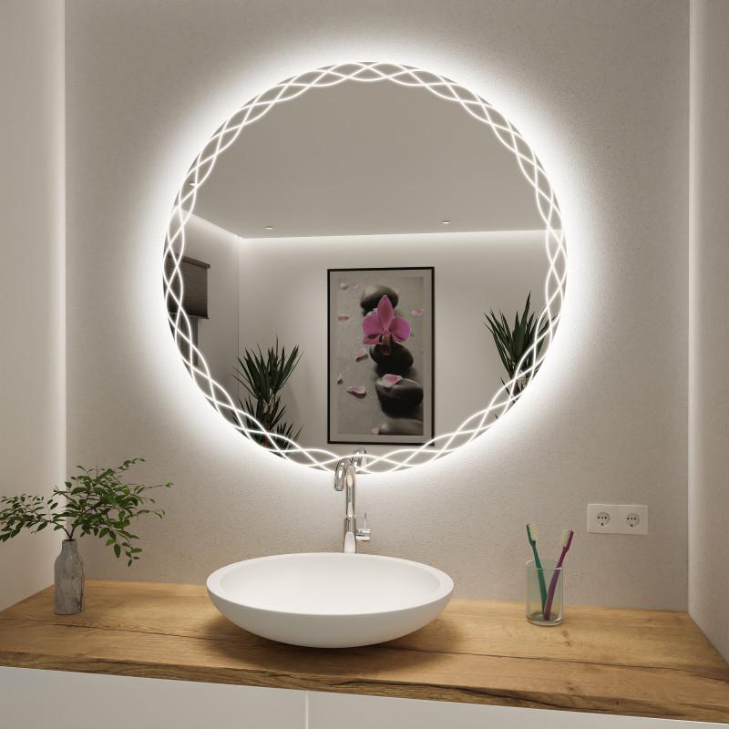 Runder Spiegel mit LED nach Maß Ruby