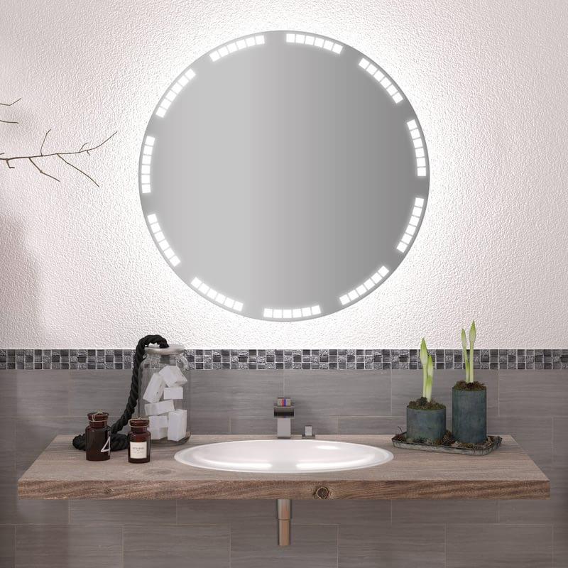 Runder Spiegel mit LED nach Maß Simo