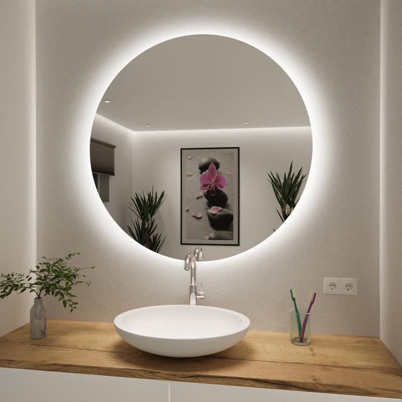 Runder Spiegel mit LED nach Maß Timon