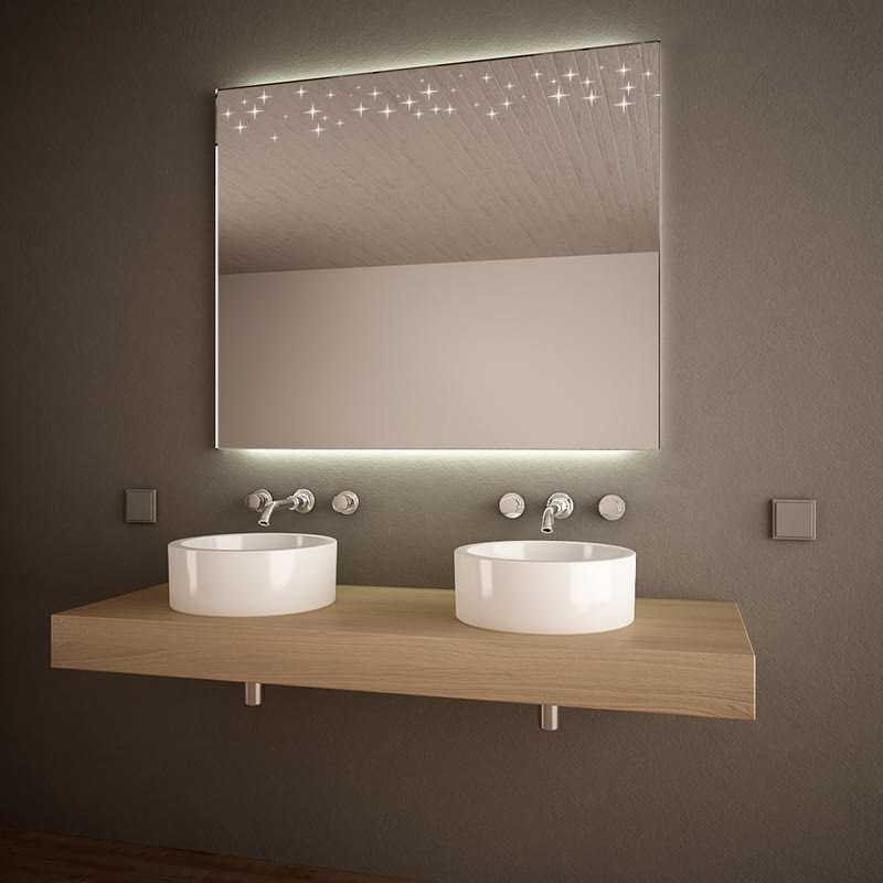 Spiegel Galaxy mit Ambientelicht fürs Bad