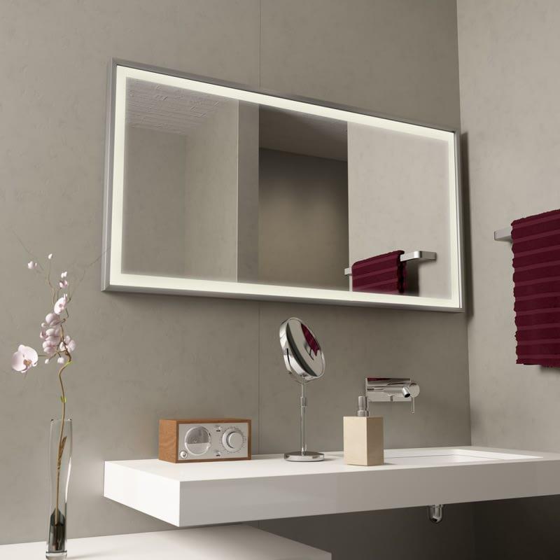 Spiegel LED mit Alurahmen Frame