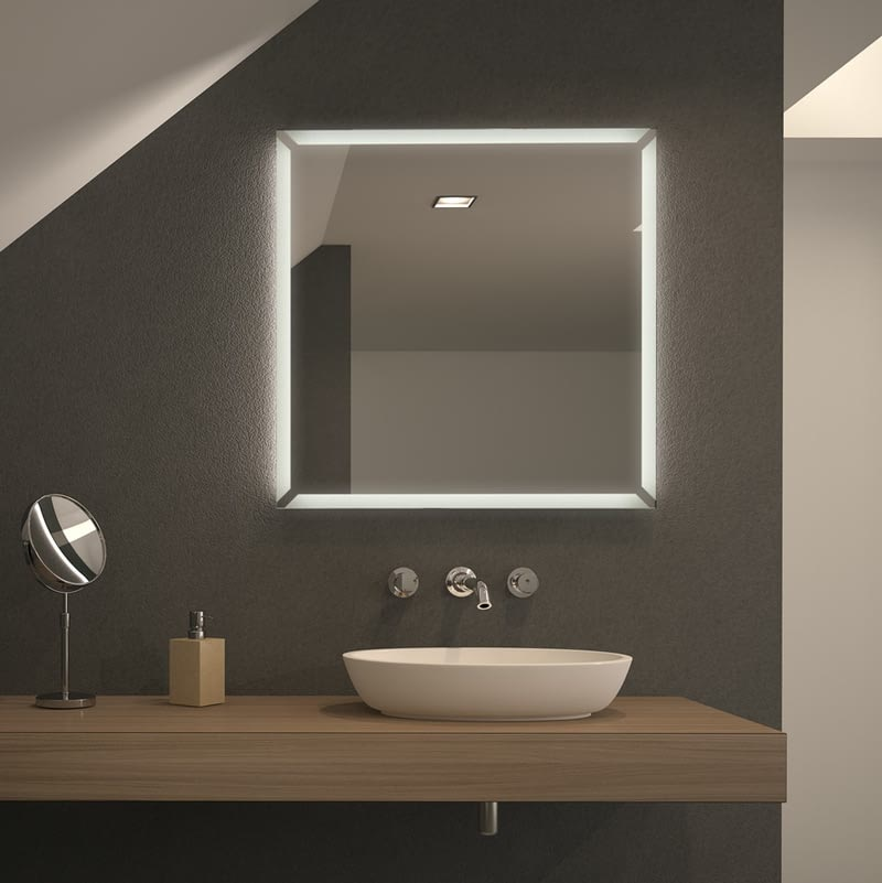 Spiegel LED mit Motiv Performa