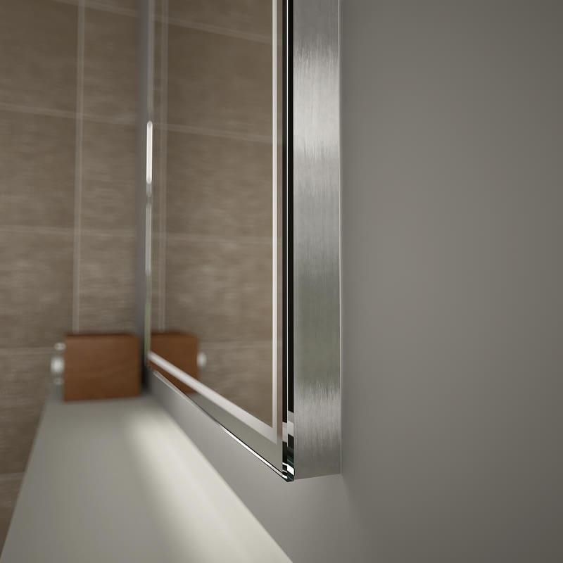 Spiegel Seitenblende - Aluminium gebürstet