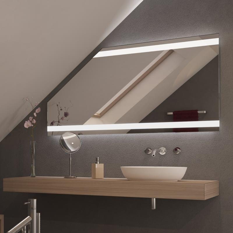 Spiegel für Dachschrägen mit LED Beleuchtung Catea