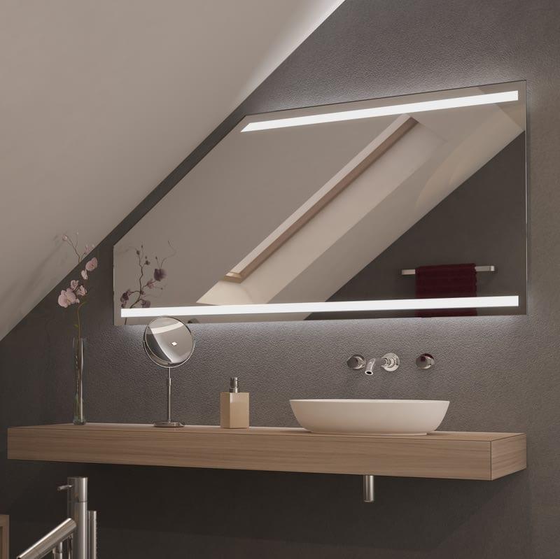 Spiegel für Dachschrägen mit LED Beleuchtung Viru