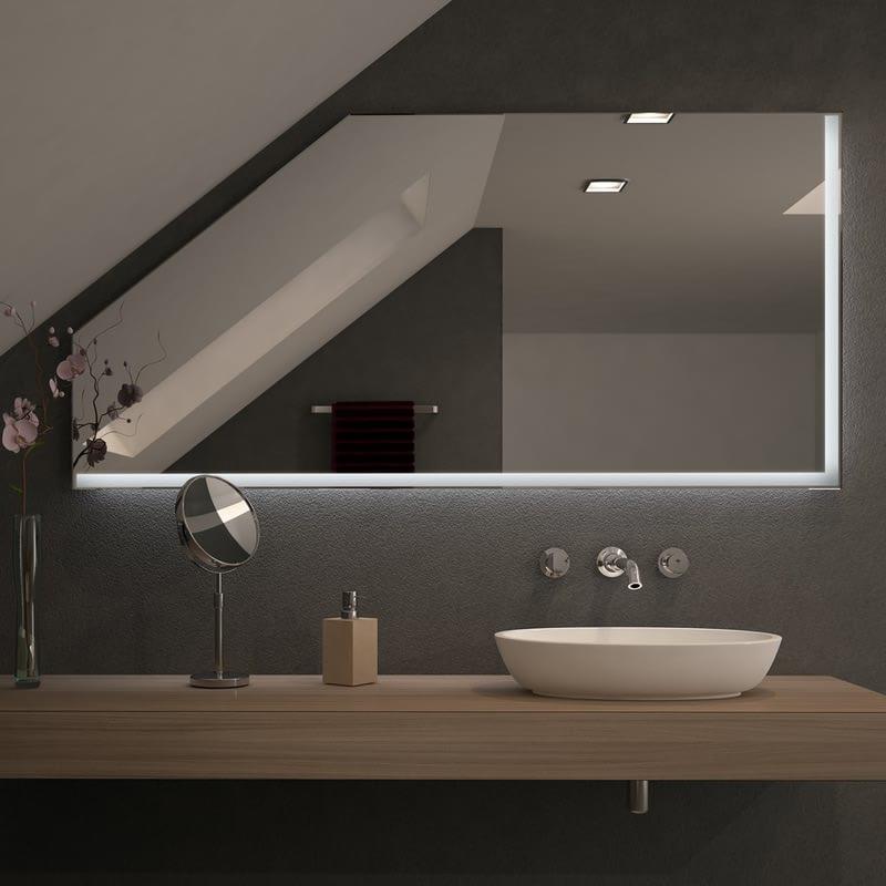 Spiegel für Dachschrägen mit LED Beleuchtung – Linovo