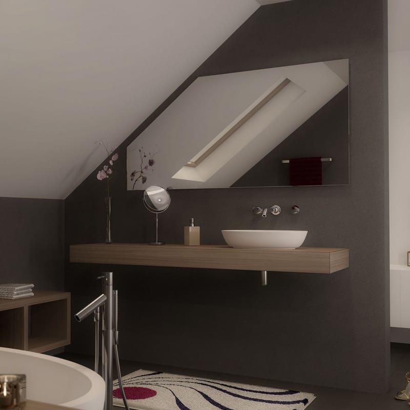 Spiegel für Dachschrägen - ohne Beleuchtung Simple