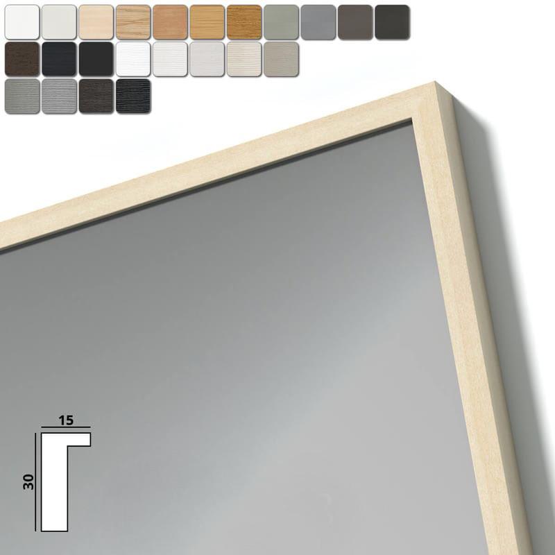Spiegel mit Holzrahmen nach Maß - Drau