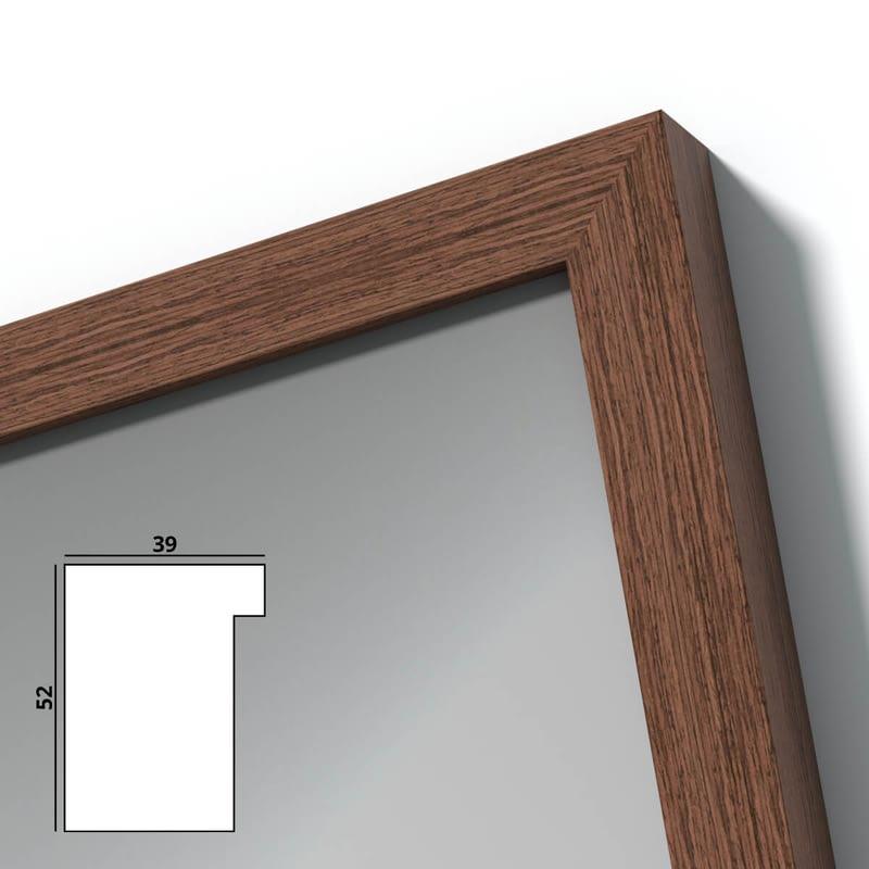 Spiegel mit Holzrahmen nach Maß - Oder