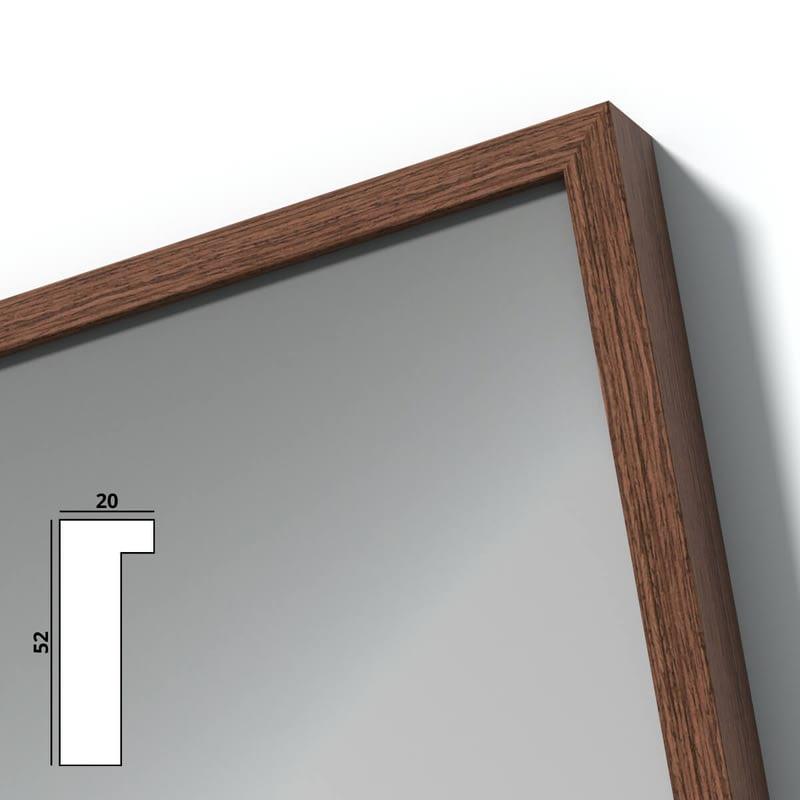 Spiegel mit Holzrahmen nach Maß - Rhone
