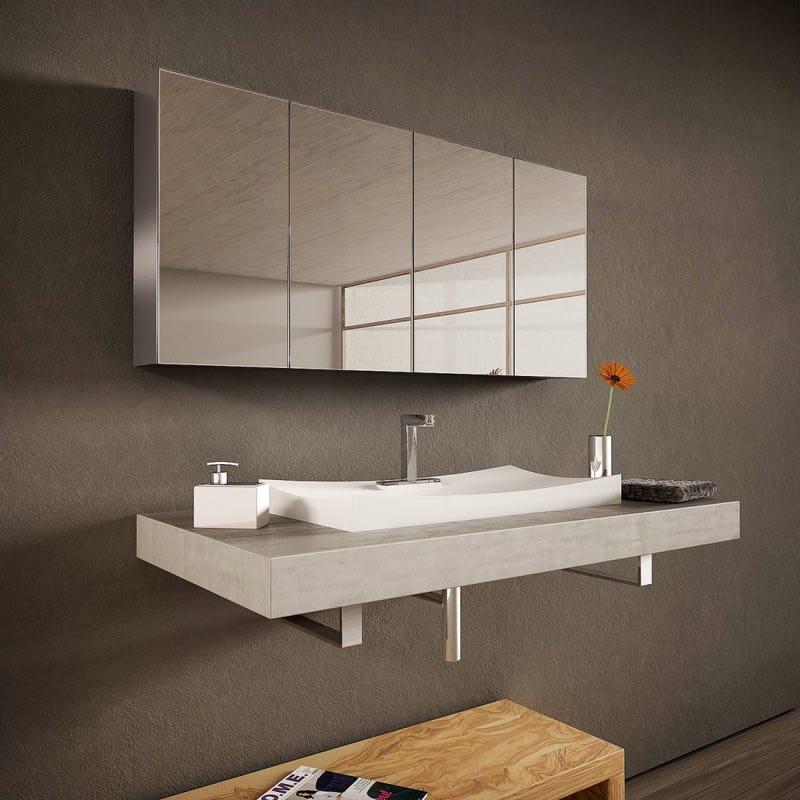 Spiegelschrank aus Aluminium  - Tulixo