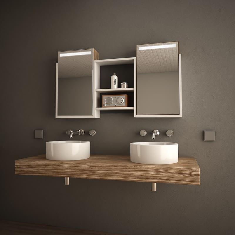 Spiegelschrank mit Handtuchfach Casa Nueva