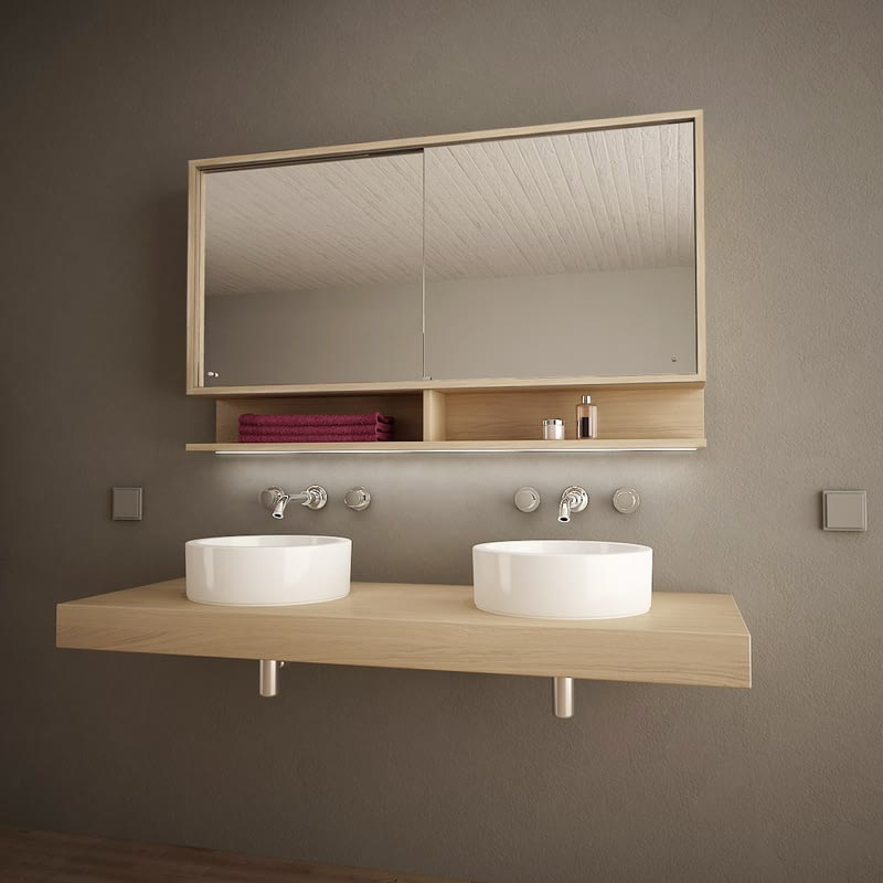 Spiegelschrank mit Schiebetüren und LED Masima