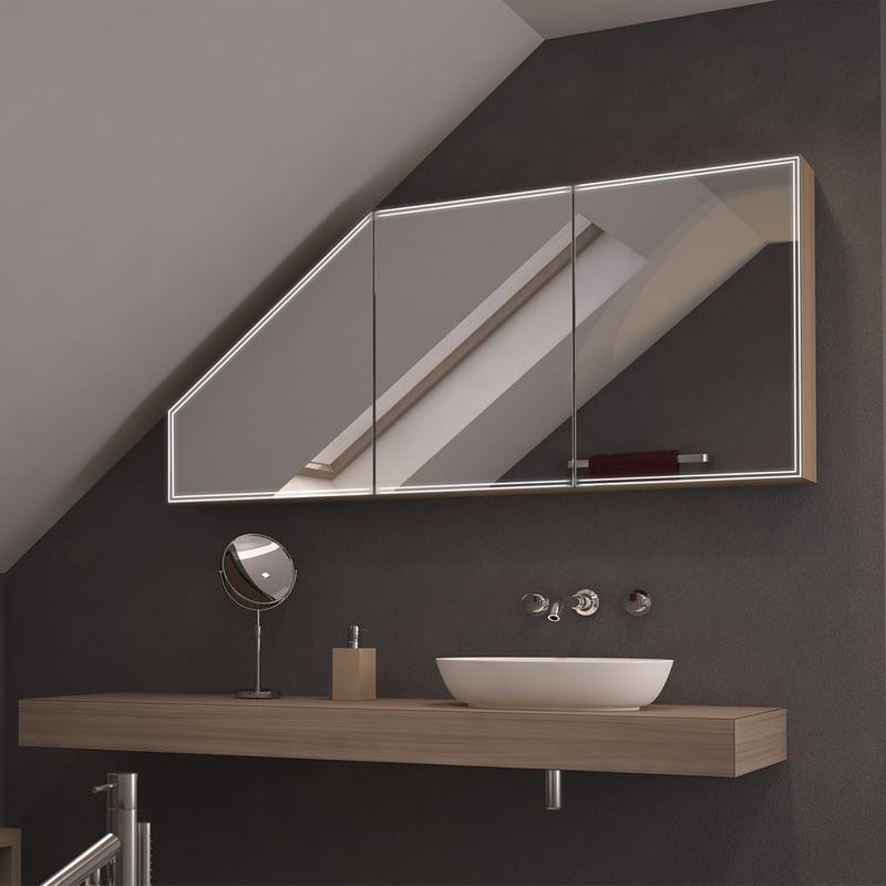 Spiegelschrank mit Schräge Mini Duplex
