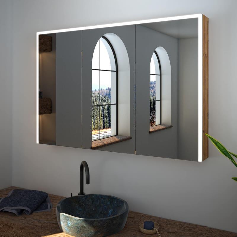 Spiegelschrank nach Maß mit LED Credo Gate