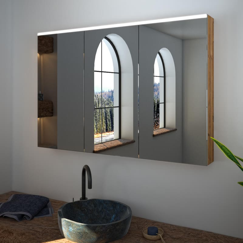 Spiegelschrank nach Maß mit LED Credo Top