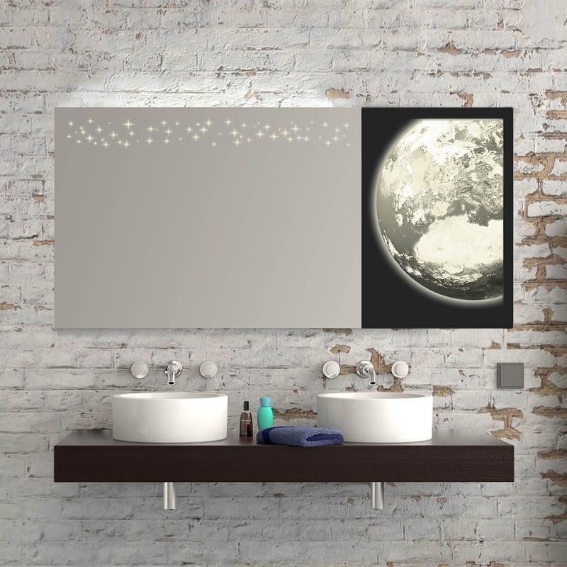 Teil-Lack-Wandspiegel Weltraum