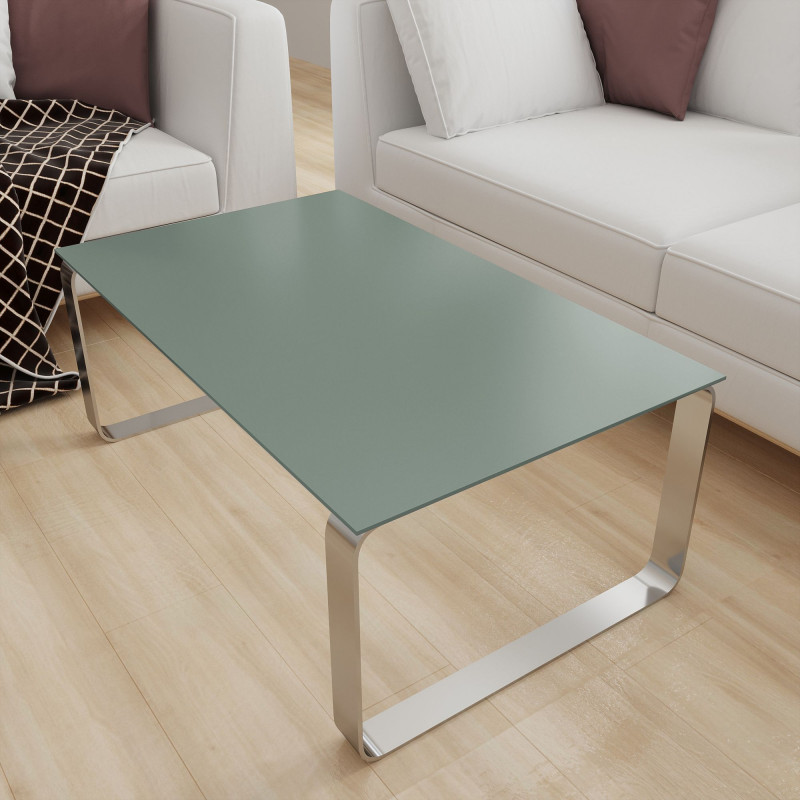 Tisch Glasplatte Grün-Grau - REF 8715, 6 mm