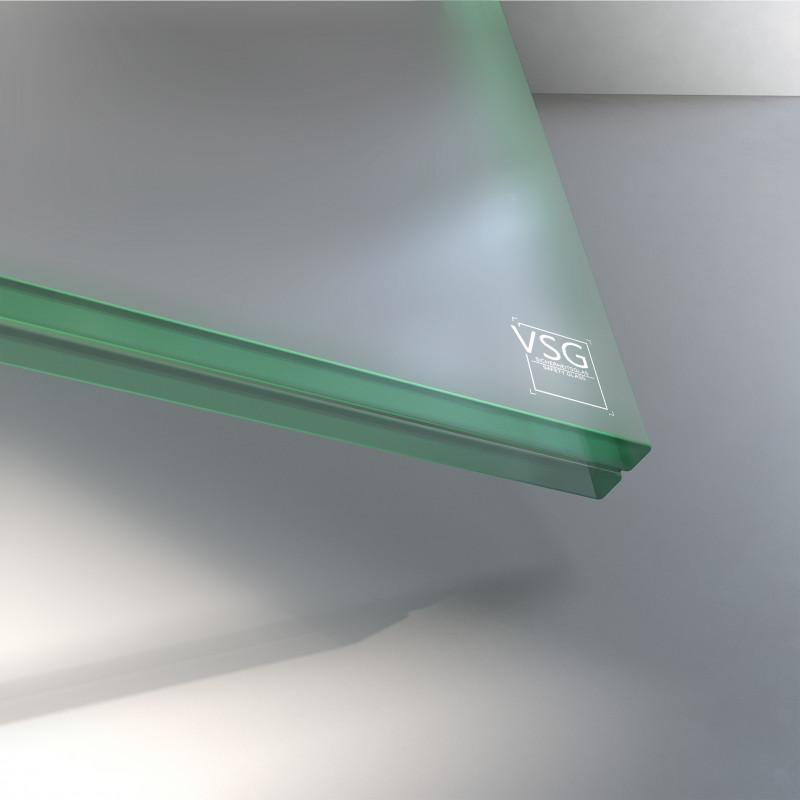 VSG aus ESG Glas 17,52 mm matt