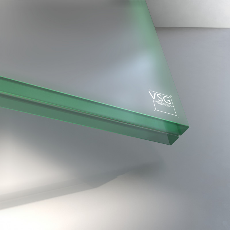 VSG aus ESG Glas 21,52 mm matt