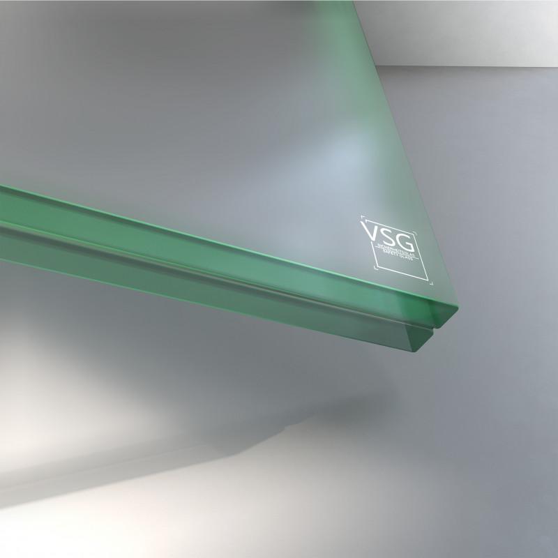 VSG aus TVG Glas 21,52 mm matt