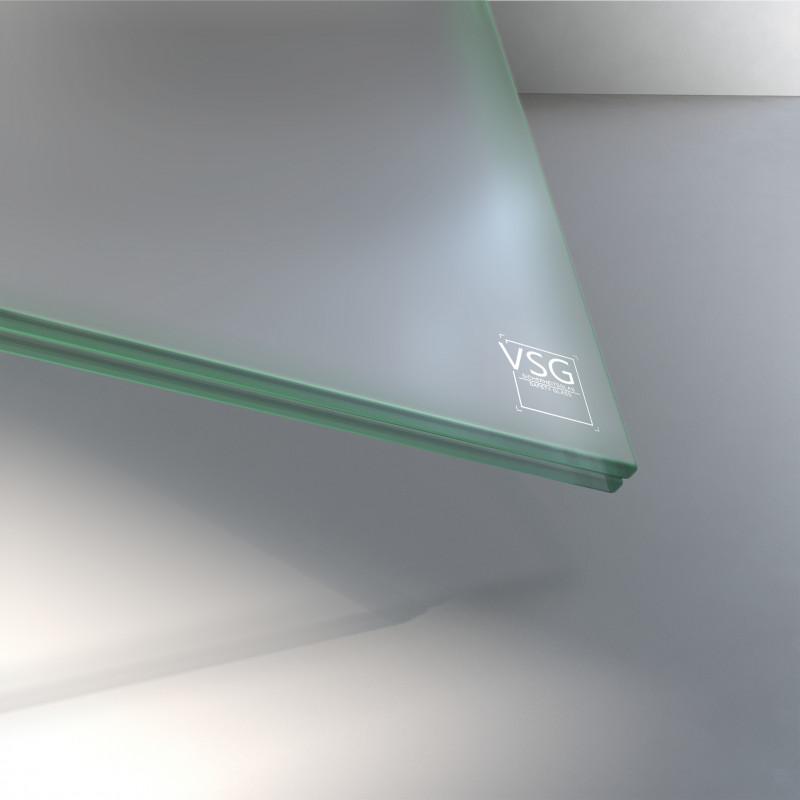VSG aus TVG Glas 8,76 mm matt