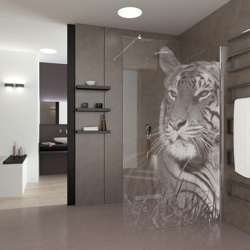 Walk In Dusche Eye of the Tiger