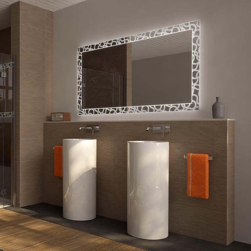 Wandspiegel mit Beleuchtung Loops