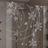 Walk In Dusche gelasert mit Motiv Floral Ornaments I