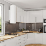 Glas Nischenwand für die Küche - Braun / Mittelbraun - REF 7013, 6mm