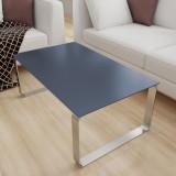 Glasplatte Tisch Anthrazit - REF 7016, 6 mm