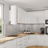 Glasrückwand Küche - Metall-Grau / Silber - REF 9006, 6mm