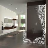 Walk In Dusche mit Motiv Leer